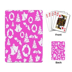 Pink Christmas Background Playing Card