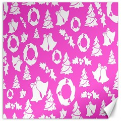 Pink Christmas Background Canvas 12  x 12