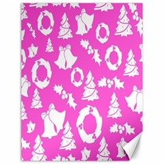Pink Christmas Background Canvas 12  x 16