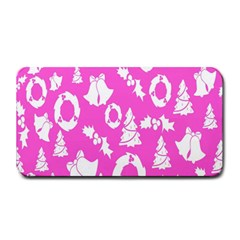 Pink Christmas Background Medium Bar Mats