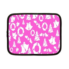 Pink Christmas Background Netbook Case (Small)