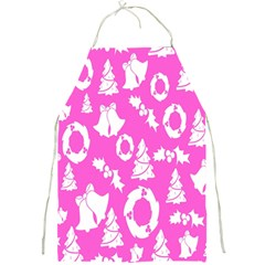 Pink Christmas Background Full Print Aprons