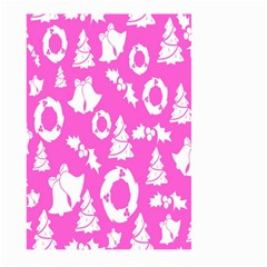 Pink Christmas Background Large Garden Flag (Two Sides)