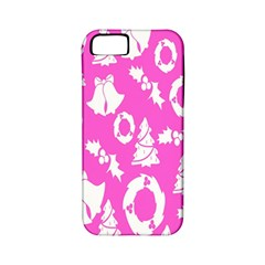 Pink Christmas Background Apple iPhone 5 Classic Hardshell Case (PC+Silicone)