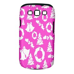 Pink Christmas Background Samsung Galaxy S III Classic Hardshell Case (PC+Silicone)