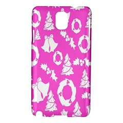 Pink Christmas Background Samsung Galaxy Note 3 N9005 Hardshell Case