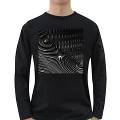 Fractal Mathematics Abstract Long Sleeve Dark T-Shirts