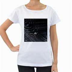 Fractal Mathematics Abstract Women s Loose-Fit T-Shirt (White)