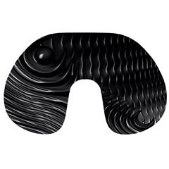 Fractal Mathematics Abstract Travel Neck Pillows