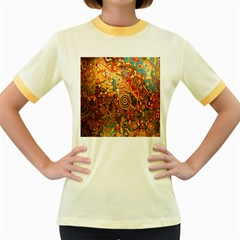 Ethnic Pattern Women s Fitted Ringer T-Shirts