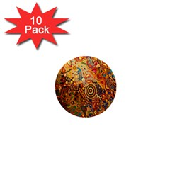 Ethnic Pattern 1  Mini Buttons (10 pack)