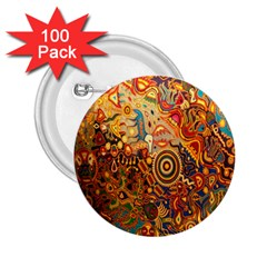 Ethnic Pattern 2.25  Buttons (100 pack)