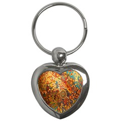 Ethnic Pattern Key Chains (heart)