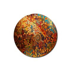 Ethnic Pattern Rubber Round Coaster (4 pack)