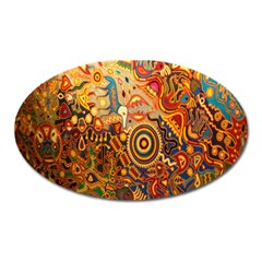 Ethnic Pattern Oval Magnet