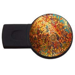 Ethnic Pattern USB Flash Drive Round (1 GB)