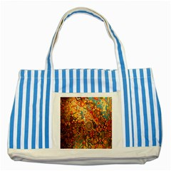 Ethnic Pattern Striped Blue Tote Bag