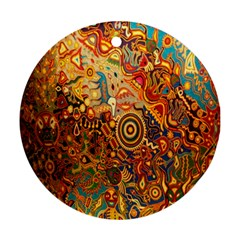 Ethnic Pattern Round Ornament (Two Sides)