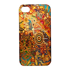 Ethnic Pattern Apple iPhone 4/4S Hardshell Case with Stand
