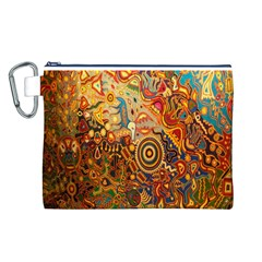 Ethnic Pattern Canvas Cosmetic Bag (L)