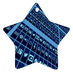 Mobile Phone Smartphone App Ornament (Star)
