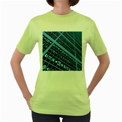 Mobile Phone Smartphone App Women s Green T-Shirt
