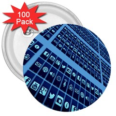 Mobile Phone Smartphone App 3  Buttons (100 pack)