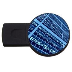 Mobile Phone Smartphone App USB Flash Drive Round (1 GB)