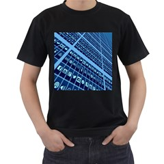 Mobile Phone Smartphone App Men s T-Shirt (Black) (Two Sided)