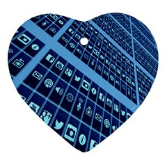 Mobile Phone Smartphone App Heart Ornament (two Sides)