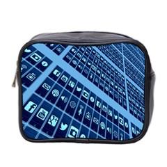 Mobile Phone Smartphone App Mini Toiletries Bag 2-Side