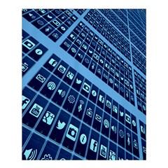Mobile Phone Smartphone App Shower Curtain 60  x 72  (Medium)