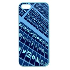 Mobile Phone Smartphone App Apple Seamless iPhone 5 Case (Color)