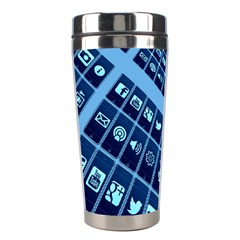 Mobile Phone Smartphone App Stainless Steel Travel Tumblers