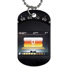 Interior Car Vehicle Auto Dog Tag (Two Sides)