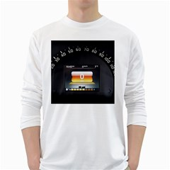 Interior Car Vehicle Auto White Long Sleeve T-Shirts