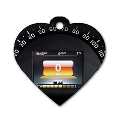 Interior Car Vehicle Auto Dog Tag Heart (One Side)