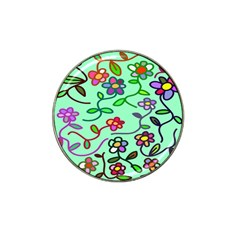 Flowers Floral Doodle Plants Hat Clip Ball Marker