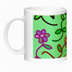 Flowers Floral Doodle Plants Night Luminous Mugs