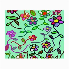 Flowers Floral Doodle Plants Small Glasses Cloth