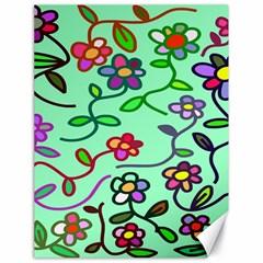 Flowers Floral Doodle Plants Canvas 18  x 24