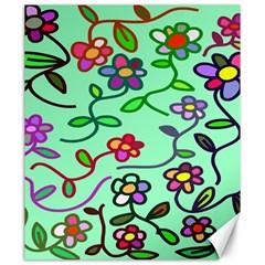Flowers Floral Doodle Plants Canvas 20  X 24