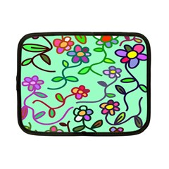 Flowers Floral Doodle Plants Netbook Case (Small)