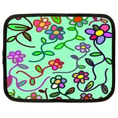 Flowers Floral Doodle Plants Netbook Case (XL)