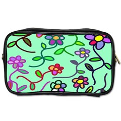 Flowers Floral Doodle Plants Toiletries Bags