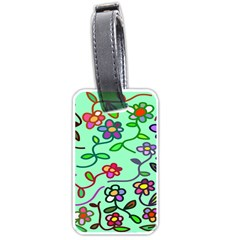 Flowers Floral Doodle Plants Luggage Tags (Two Sides)