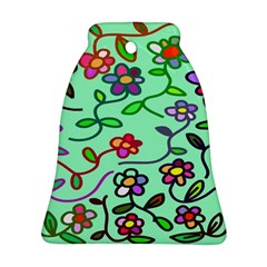 Flowers Floral Doodle Plants Bell Ornament (Two Sides)