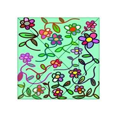 Flowers Floral Doodle Plants Acrylic Tangram Puzzle (4  x 4 )