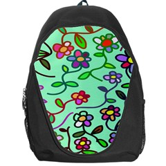 Flowers Floral Doodle Plants Backpack Bag