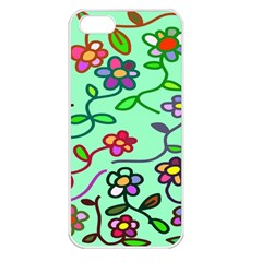 Flowers Floral Doodle Plants Apple Iphone 5 Seamless Case (white)